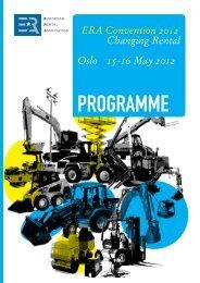 programme - ERA European Rental Association