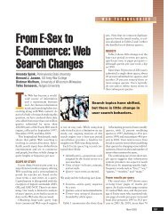 From E-Sex to E-Commerce: Web Search Changes - Jim Jansen