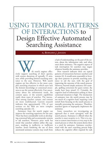 Using temporal patterns of interactions to design effective automated ...