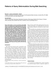 Patterns of query reformulation during Web searching - Wiley Online ...