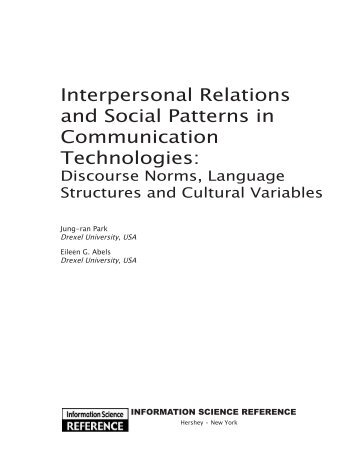 interpersonal communications theories in kung fu Scholars interested in interpersonal communication found a practi cal outlet for  their  and c om m unicaiion theory, communication 77foo'9(1999): 162-88   the idea of a dream as a metaphor for future hopes is not new, but king.