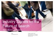 Industry Signals on the Future of Search