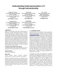 Understanding Underrepresentation in IT through Intersectionality