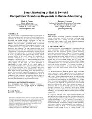 Smart Marketing or Bait & Switch? Competitors' Brands as Keywords ...