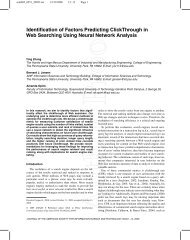 Identification of Factors Predicting ClickThrough in Web Searching ...