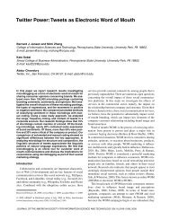 Twitter power: Tweets as electronic word of mouth - Computer Science