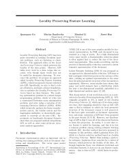 Locality Preserving Feature Learning