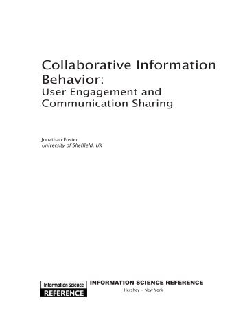 Collaborative information behavior : user engagement