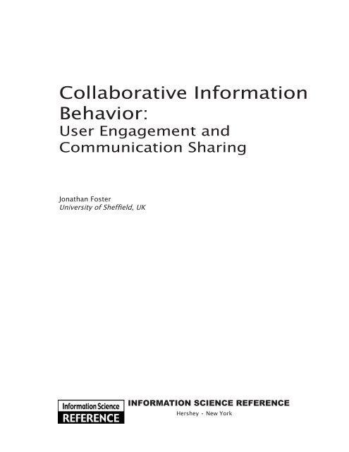Collaborative information behavior : user engagement
