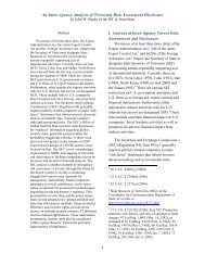 An Inter-Agency Analysis of Terrorism Risk Assessment Disclosure