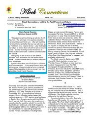 June 2012, Issue 130 - Klock Connections