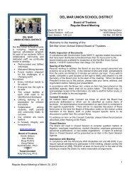 Agenda/Packet - Del Mar Union School District