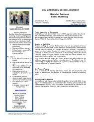 Agenda - Del Mar Union School District