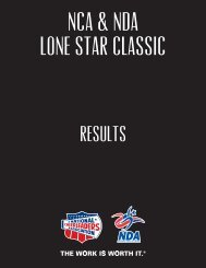 NCA & NDA LONE STAR AND SMALL GYM CLASSIC