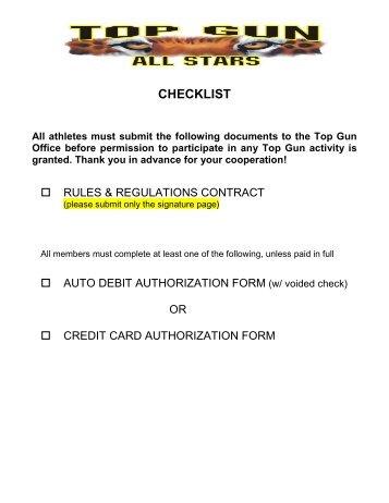 credit card direct debit form template