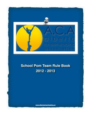 School Pom Rule Book 2012 - 2013 - JAMSpiritSites.com