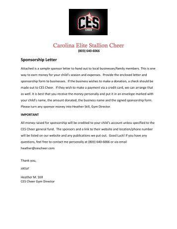 sponsorship letter jamspiritsitescom