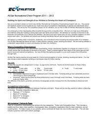 All-Star Recreational Cheer Program 2011 - JAMSpiritSites.com