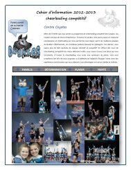 Cahier d'information 2012-2013 cheerleading compétitif