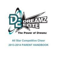 All Star Competitive Cheer 2013-2014 PARENT HANDBOOK