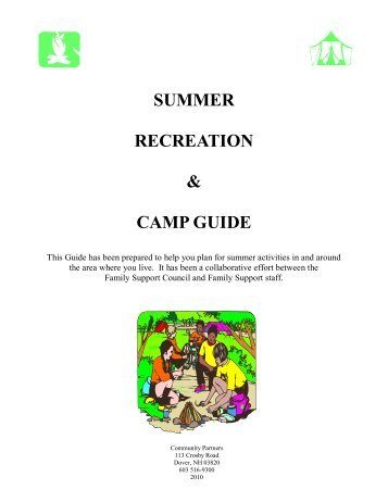 SUMMER RECREATION & CAMP GUIDE - Community Partners