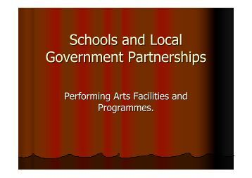 School and Local Government Partnerships - Cultural Development ...