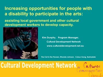 Increasing opportunities for people with a disability to participate in ...