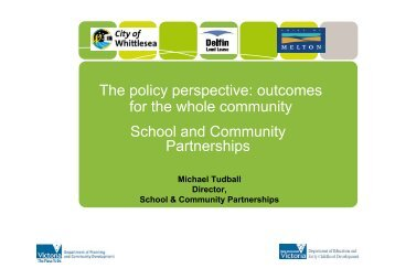School and Community Partnerships - Cultural Development Network
