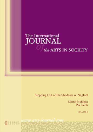 Stepping Out of the Shadows of Neglect - Cultural Development ...