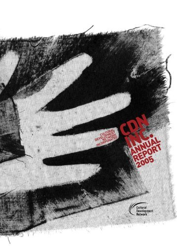 CDN Annual Report - Cultural Development Network