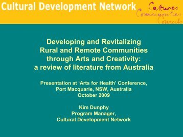 Download Presentation - Cultural Development Network