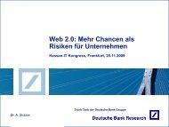 Web 2.0: Mehr Chancen als Risiken für Unternehmen - Firmenkunden