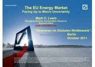 Deutsche Bank The EU Energy Market - Firmenkunden