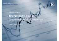 Energieeffizienz 2012 - Firmenkunden - Deutsche Bank