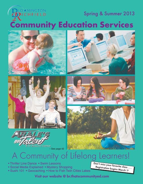 Spring Summer 2013 Catalog - Community Services - Bloomington ...