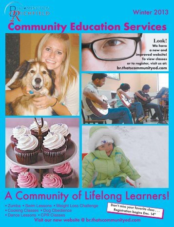A Community of Lifelong Learners! - Community Services ...
