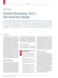 Holistic Branding, Teil 1: Die Kraft der Marke - Biesalski & Company