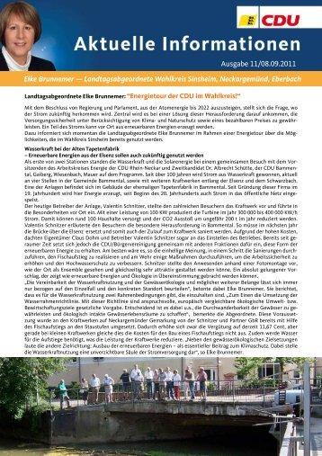 Ausgabe 11/2011 als PDF-Dokument - Elke Brunnemer
