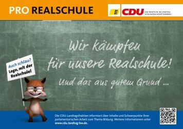 "Infoflyer ""Pro Realschule"" - Elke Brunnemer"