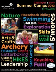 Summer Camp Brochure 2013 - Girl Scouts of Connecticut