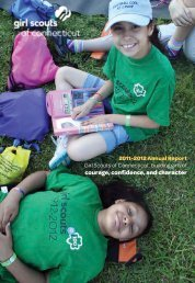 2011-2012 Annual Report - Girl Scouts of Connecticut