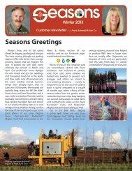Customer Newsletter - J. Frank Schmidt & Son Co.