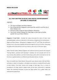 all that matters in music and digital entertainment returns to singapore