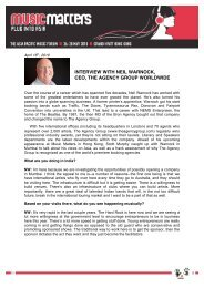 interview with neil warnock, ceo, the agency group worldwide