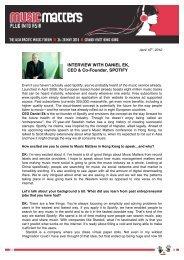 INTERVIEW WITH DANIEL EK, CEO & Co-Founder, SPOTIFY