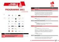 PROGRAMME 2011 - ALLTHATMATTERS
