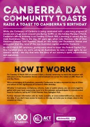 Download the 'Host a Toast - Canberra 100