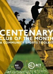 CLUB OF THE MONTH - Canberra 100