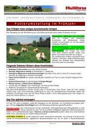 Futterumstellung im Frühjahr - Hochdorf Nutritec AG