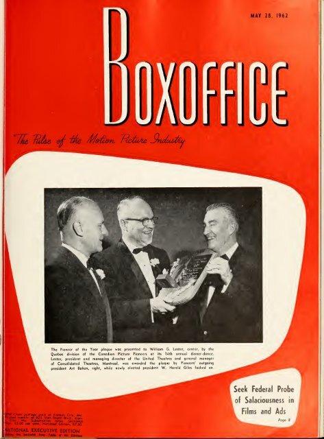 Boxoffice May 28 1962
